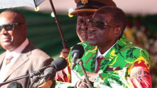 President Mugabe speaking