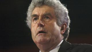 Rhodri Morgan at Labour party conference in 2004