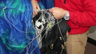Parachute shown to court