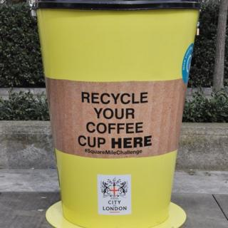 Coffee Cup recycling bins
