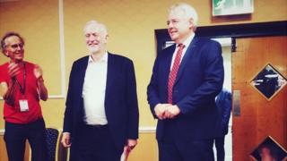 Jeremy Corbyn and Carwyn Jones