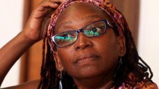 Ugandan prominent academic Stella Nyanzi stands in the dock at Buganda Road Court