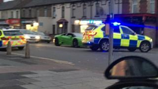 Witnesses saw the car speeding in Newport