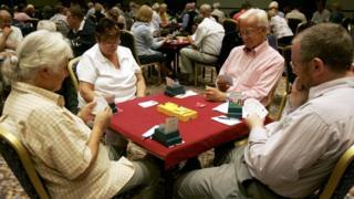 People playing bridge