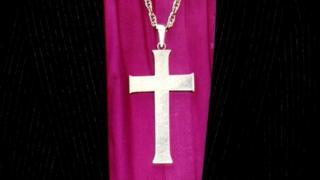 Cross on bishop