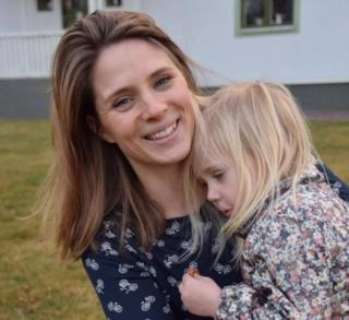 Anna Larsson and her daughter