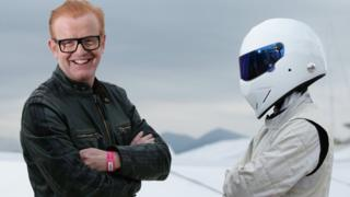 Top Gear presenter Chris Evans and The Stig