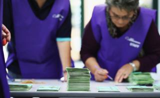 Officials count votes during last year's Australian election