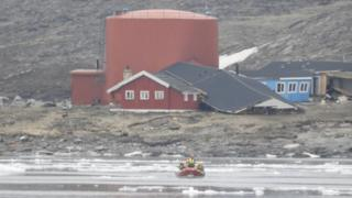 Emergency services were initially called to reports of major flooding in the village of Nuugaatsiaq, Geenland