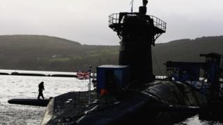 HMS Vanguard at Faslane