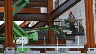 Construction worker in Battersea, London