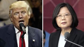 """12月2日蔡英文打電話給川普,打破了中美建交三十多年來的""""外交慣例""""。"""