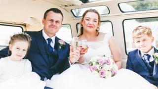 Nicola White on her wedding day