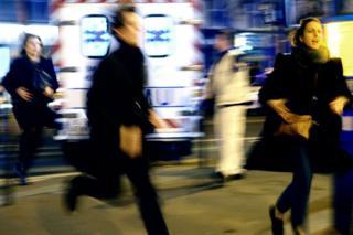 People fleeing the scene