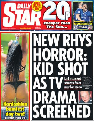 Daily Star front page - 26/04/17
