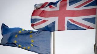 British and EU flag