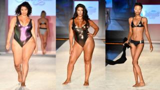 Models walk the runway during SWIMMIAMI Sports Illustrated Swimsuit 2018