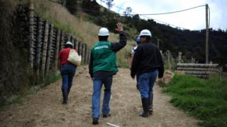 La Colosa mining project, Cajamarca, Colombia, 28 August 2017