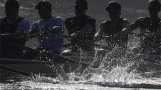 The Oxford boat crew training