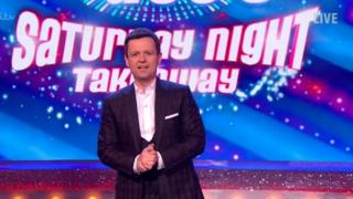 Declan Donnelly presenting Saturday Night Takeaway on 31 March 2018