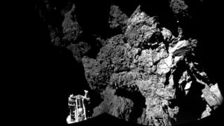photo taken by Philae of surface