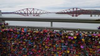 Padlocks on the Forth Road Bridge
