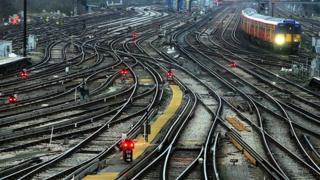Train tracks around Clapham Junction
