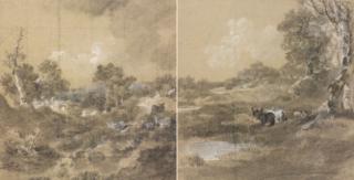 Рисунок Гейнсборо из Королевской коллекции