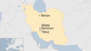 Iran Tehran Semirom map