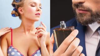 男女喷香水