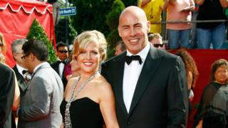 Ashley Jensen and Terence Beesley at the Emmys
