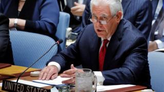 رکس تیلرسون در شورای امنیت سازمان ملل