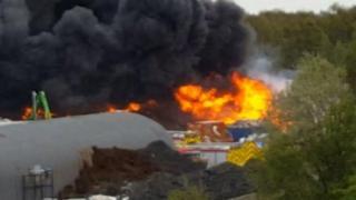 Fire at Deeside factory