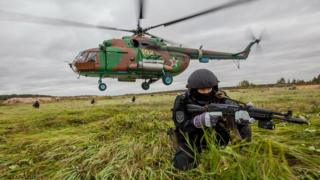 Sobr troops on National Guard exercise