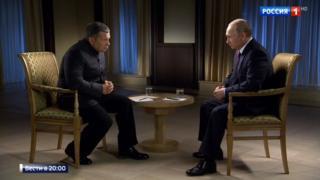 Президент России Владимир Путин дал эксклюзивное интервью ведущему ВГТРК Владимиру Соловьеву