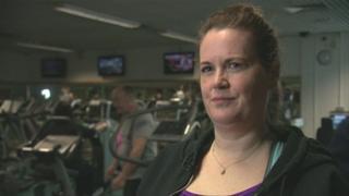 Harriet Mulvaney in a gym