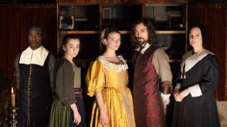 Paapa Essiedu, Hayley Squires, Anya Taylor-Joy, Alex Hassell and Romola Garai in The Miniaturist