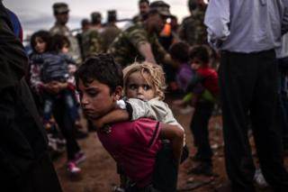 Syrian children among several migrants