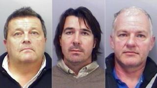 Glyn Thompson, Darren Tallon and Roger Truen