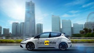 Nissan Leaf adapted as robo-taxi