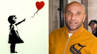 Banksy artwork and Goldie