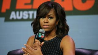 Michelle Obama at a panel discussion