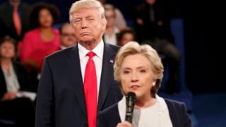 Donald Trump da Hillary Clinton
