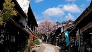 日本、马笼宿(Magome)、城镇、历史、建筑(图片来源:JTB MEDIA CREATION, Inc./Alamy)