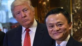 Donald Trump and Jack Ma