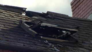 Damage to house at Wyndham Street in Belfast