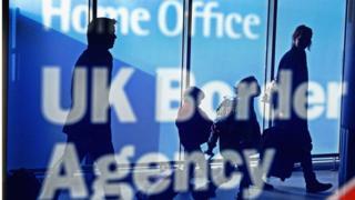 Home Office UK Border Agency sign at Edinburgh Airport