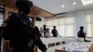 Kepala Divisi Humas Polri Irjen Pol Setyo Wasisto di Mabes Polri, Minggu pagi.