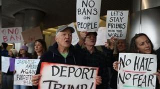 مخالفت با فرمان ترامپ