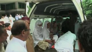 Maria Sadaqat's body was taken to her village for her funeral on Wednesday